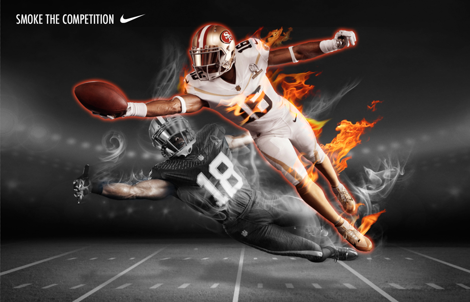 Campaign image for Nike Football created by Zachary Creative Studio.