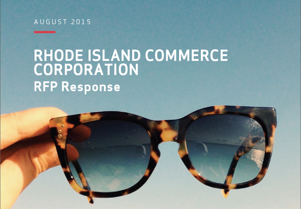 Rhode Island RFP PowerPoint Presentation for Print